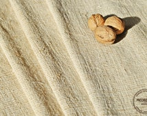 Homespun Linen Hemp Per 1 Yard lenght - Antique European Grain Sack fabric - upholstery hemp fabric