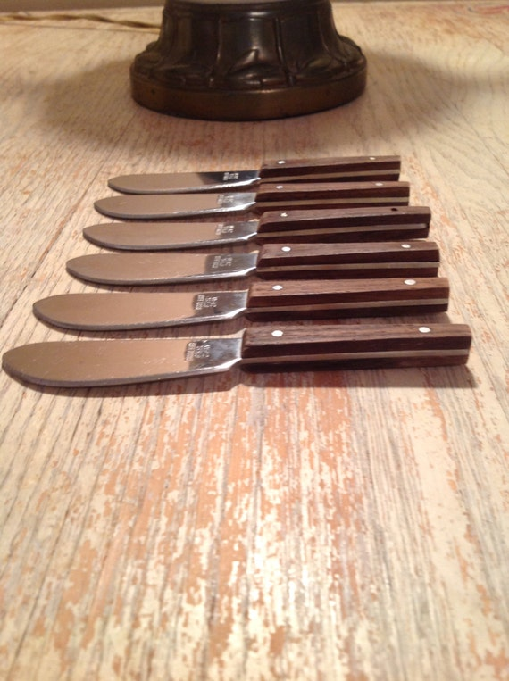 Vintage mini canape spreaders viking japan wood by for Canape spreaders