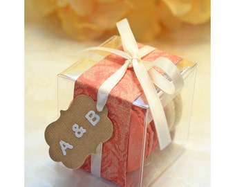 Shower Favors - French Macaron, Favor Boxes - Set of 30 Favor Boxes - Bridal or Wedding Favors