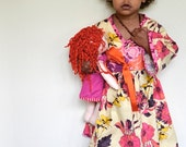 Girls Kimono Dress - Party, Play, School Portraits, Easter, Weddings, or Just Because Dress - Flower Tina Givens Print