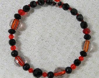 Jeweled Red & Black Bracelet
