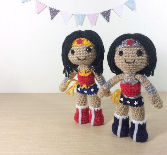 Amigurumi Wonder Woman : Wonder Woman Amigurumi Crochet Plush Doll