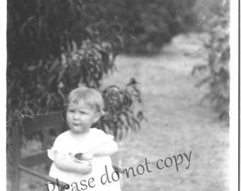 Antique 1918 Identified Photo Little Girl in Chair