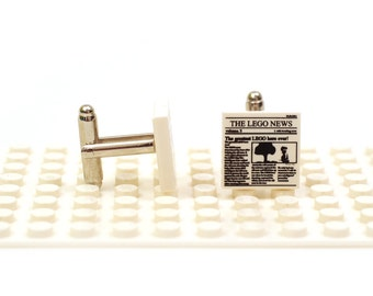 It's 'The LEGO News'. Cufflinks made with LEGO(R) bricks. Read all about it.    Cuff links Wedding gift