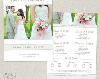 Wedding Photography Package Pricing List Template - Photography Pricing Guide - Price List - Price Sheet -020 - C169, INSTANT DOWNLOAD