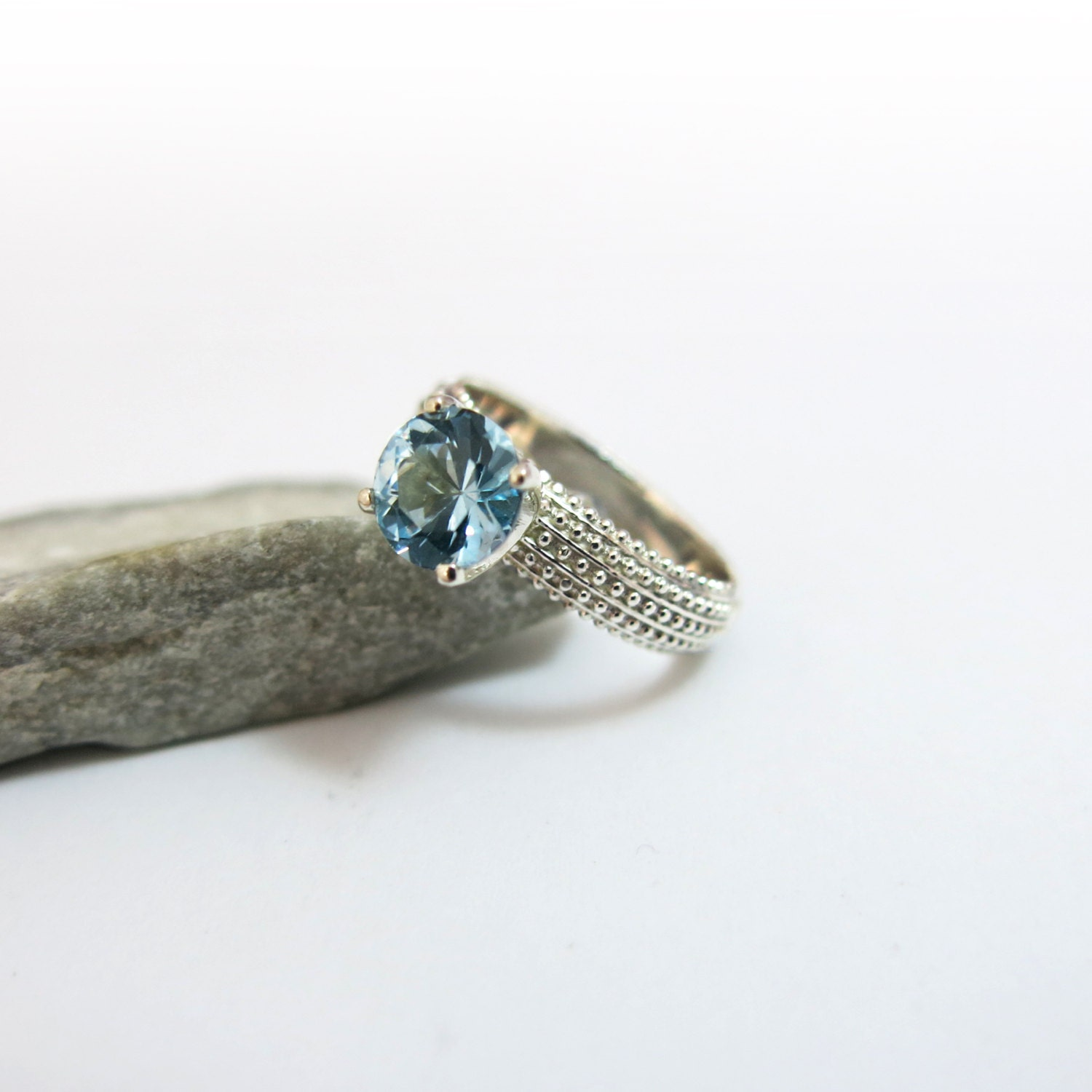 birthstone engagement ring aquamarine ring aquamarine
