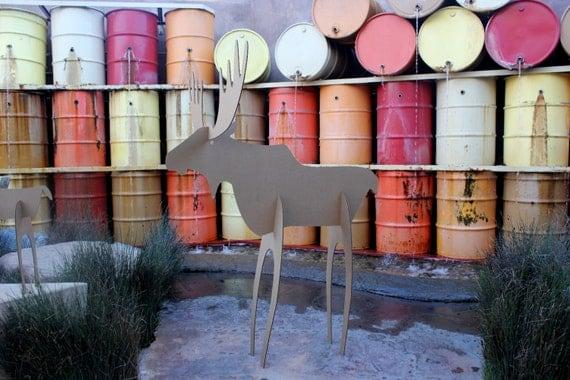 5ft tall Cardboard Christmas Moose