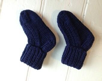 Navy Twin-Ribbed Socks - Newborn Size