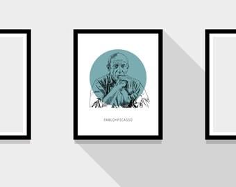 Pablo Picasso Portrait Print