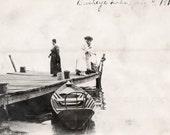 Boating  Vintage Photo July 4th 1918 Buckeye Lake