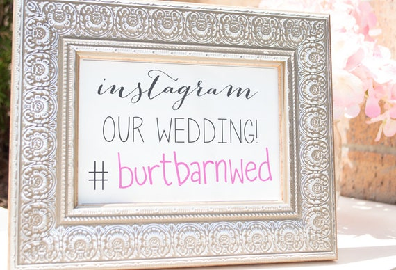 Printable Instagram Sign for your wedding // Instant Download