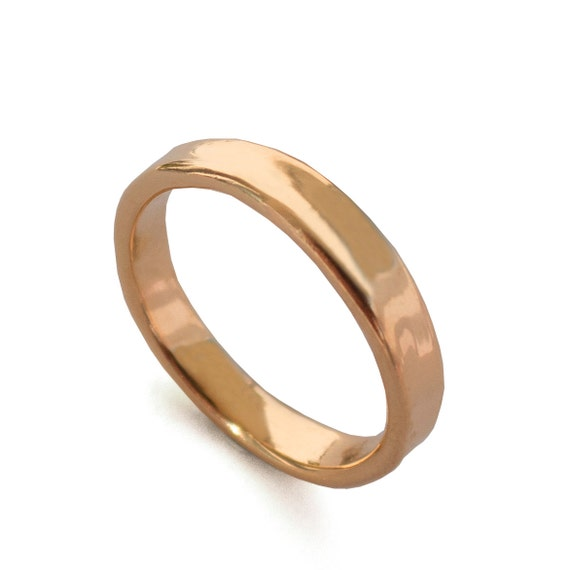 Simple Gold Wedding Band 18k Rose Gold Ring 18k Gold Band Wedding Ring