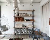 Up to 25% Off! BlackFridaySale! - Industrial Chic Shelving Unit, Modern Bookcase, Reclaimed Wood, Storage