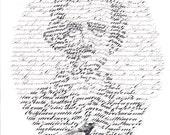 Edgar Allan Poe THE RAVEN calligraphy fine art print
