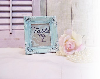 Ornate Picture Frame Wedding Table NUMBERS By AnnClarkDesigns