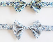 Blue Kid's Bow Tie, Liberty of London Kids Bow tie, ring bearer tie, ring bearer bow tie, toddler bow tie, little boys tie, blue boys tie