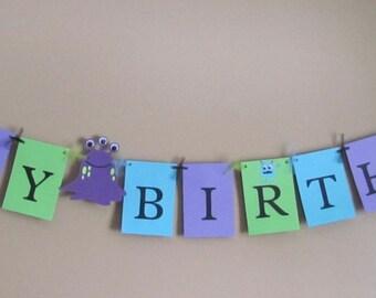 Monster Happy Birthday Banner - Birthday Party