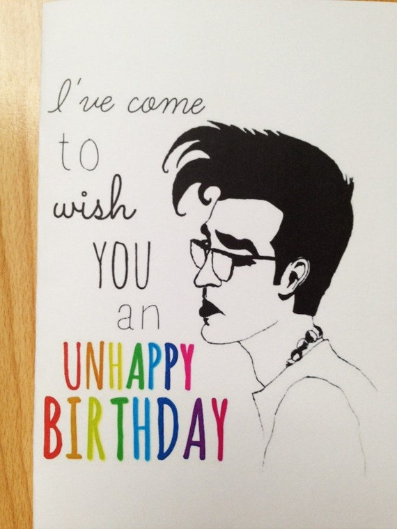 Items similar to The Smiths Birthday Card on Etsy – Morrissey Birthday Card