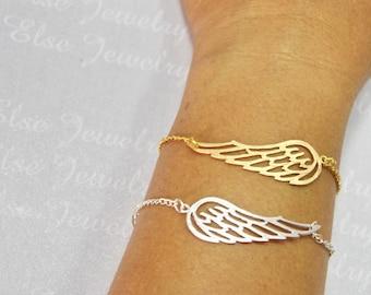 Angel Wing Bracelet, Angel Wing Jewelry, Angel Wing Bracelet, Angel Bracelet, Gold Angel WIng Bracelet, Silver Wing Bracelet, Angel Jewelry