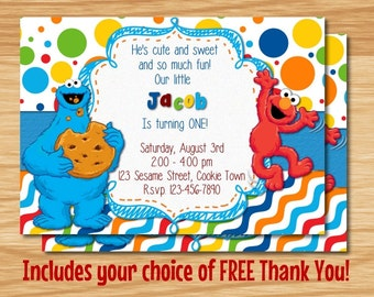 Cookie Monster Birthday Invitations is one of our best ideas you might choose for invitation design