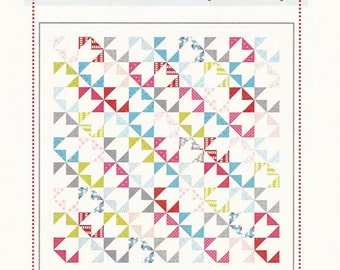 "Delightful Quilt Pattern - Pinwheel Pattern Uses Fat Eighths - by Aneela Hoey - 70"" x 70"" - AH 1208 (W1735)"