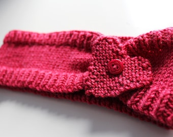 Knitted Headband Knitting Pattern PDF Instant Download to Make  'Heart Rules Head!'