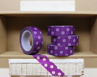 Washi Tape - big polka dots on purple - 0003