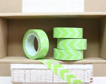 Washi Tape - lime green arrows - chevron - 5012