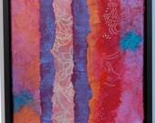 Arte. Pintura.Técnica mixta. Colores vivos. Obra .Original. Collage. acrílico