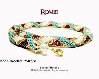 Tutorial Rombi Necklace - Bead Crochet Pattern - Instant download PDF