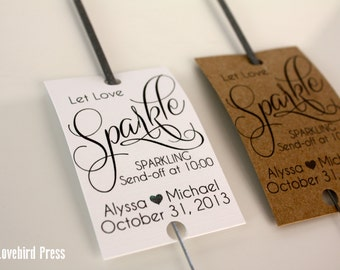 Wedding Sparkler Tags Template Printable Let Love Sparkle