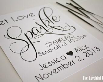 Wedding Sparkler Send Off Sign - Personalized Printable Let Love Sparkle Wedding Sign - Sparkler Send Off - Sparkler Sign - AA1