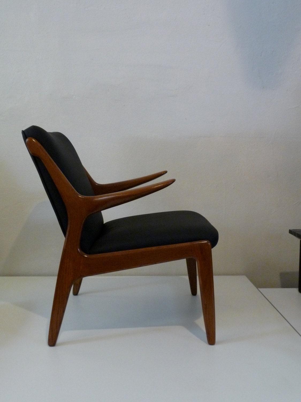 Kurt Ostervig Danish Modern Chair Black Vinyl Danish Furniture
