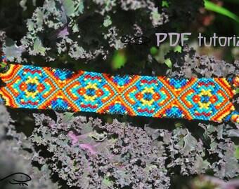 Friendship Bracelet Pattern, Friendship Bracelet Tutorial 'Midnight Delight' Friendship Bracelet PDF, Bracelet Pattern, Bracelet Tutorial