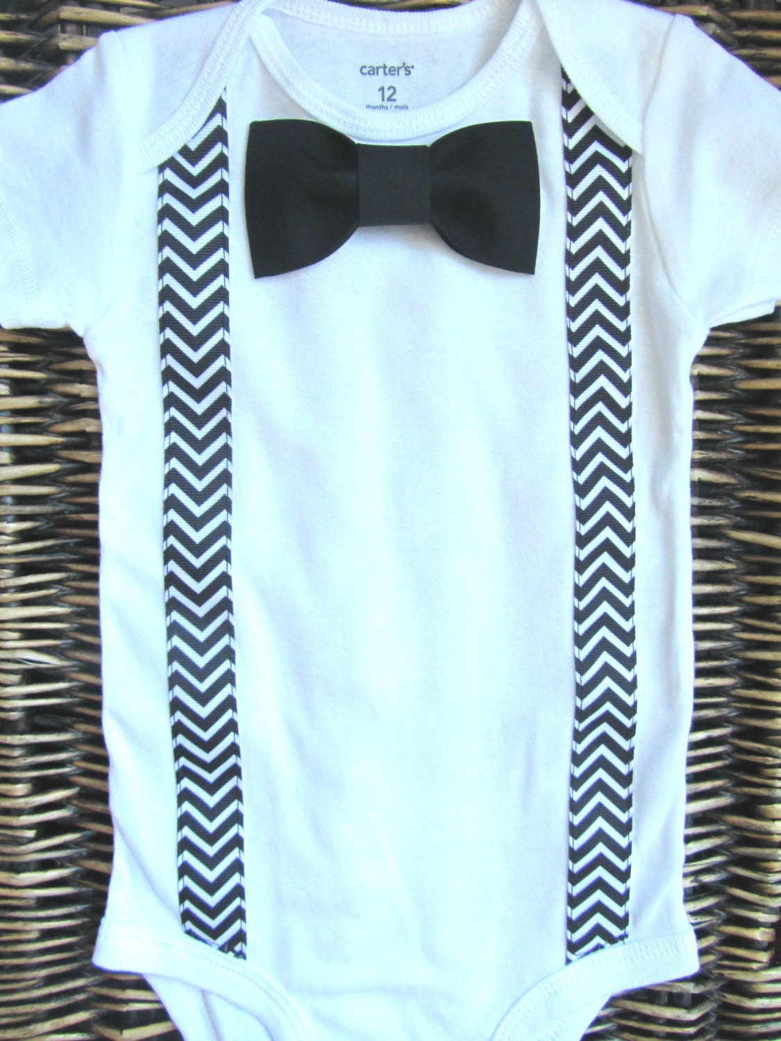 Baby Boy Clothes Boys First Birthday Outfit Black Chevron