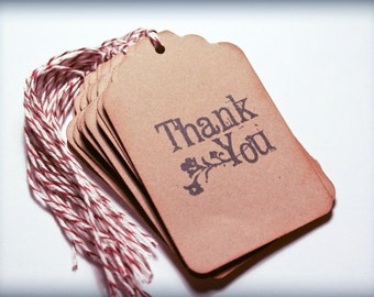 Thank You Tag Handmade Set 10 Rustic Wedding Wish Tree Merchandise Tags gift