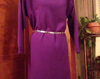 Awesome Castleberry Wool Purple Sweater Dress