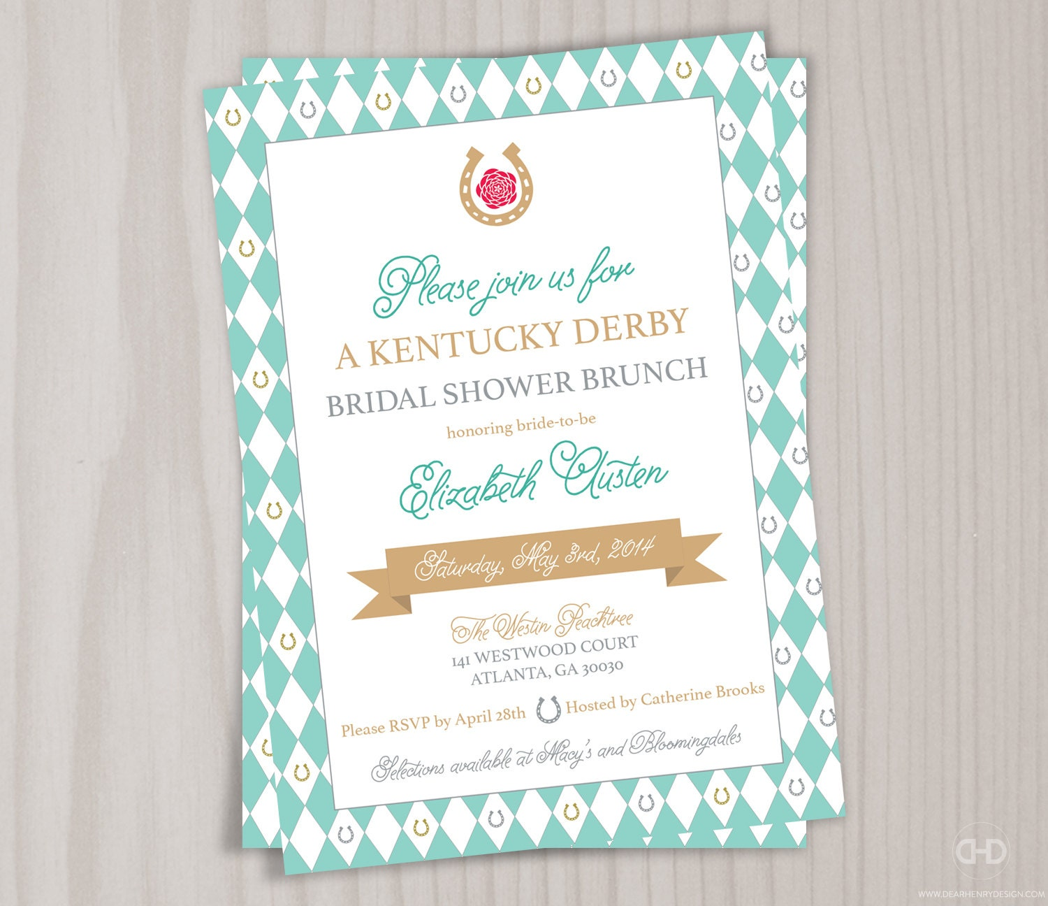 Kentucky Derby Bridal Shower Invitations absolutely amazing ideas for your invitation example
