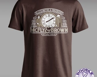 McFly & Brown Blacksmiths - Back to the Future T-shirt