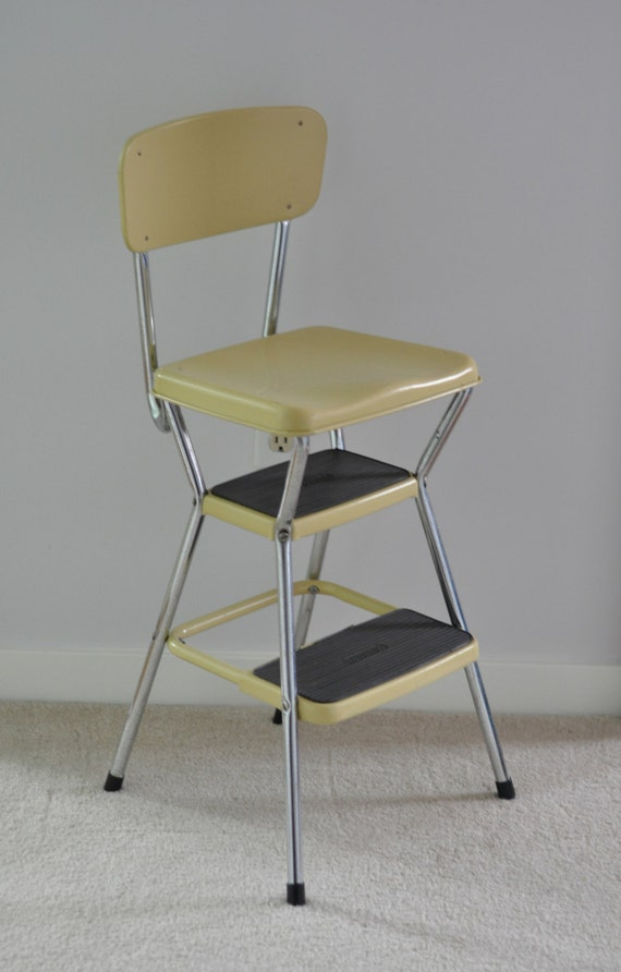 Vintage Cosco Step Stool Yellow Retro