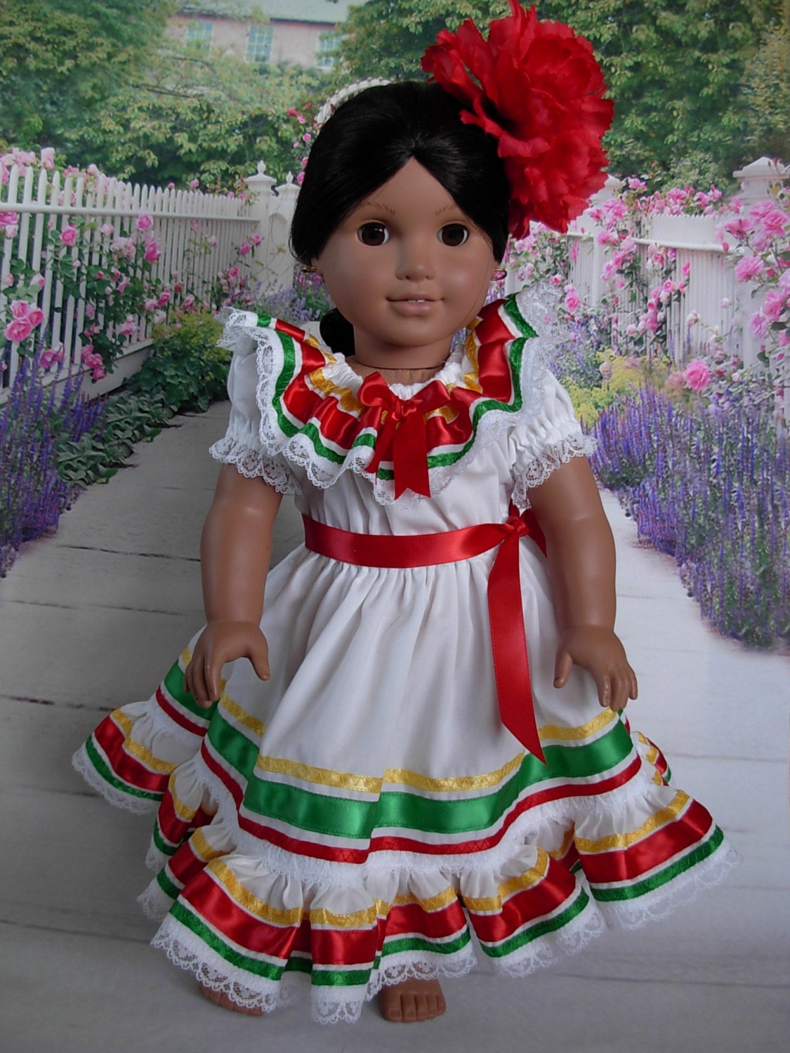 mexican folklorico dress for josefina american girl doll and