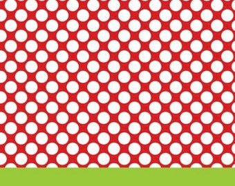 Red Polka Dot with Lime Stripe Gift Tag
