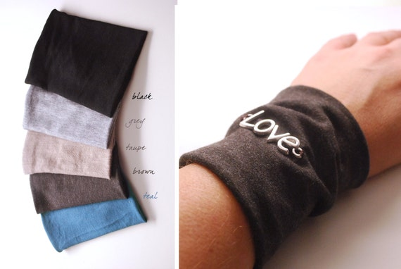 Items similar to pick one colour for your love wrist cuff for How to cover a wrist tattoo