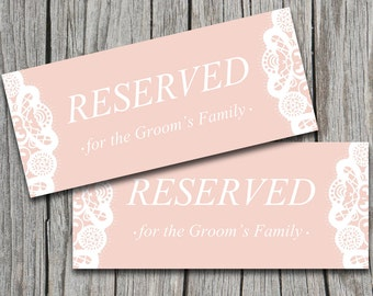 Reserved table cards | Etsy