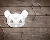 HALLOWEEN - Spotted MOUSE MASK - White - Ninn in Wonderland