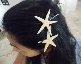 Starfish 2 bobby pins bridal and beach wedding  for new  Bride to be , Bride Gift, Bridal Shower and  Bridesmaid hair Gift