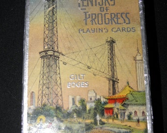 Vintage Circa 1934 Worlds Fair in Chicago The SkyRide Deck of Playing Cards Awesome!