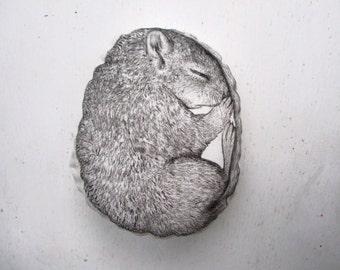 cute cuddly toy dormouse soft plush sleepy lethargy woodland creature gift idea animal lover nursery decor mouse squirrel shape plush