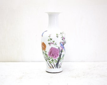 Chinese Baluster Vase with Bird s and Flowers