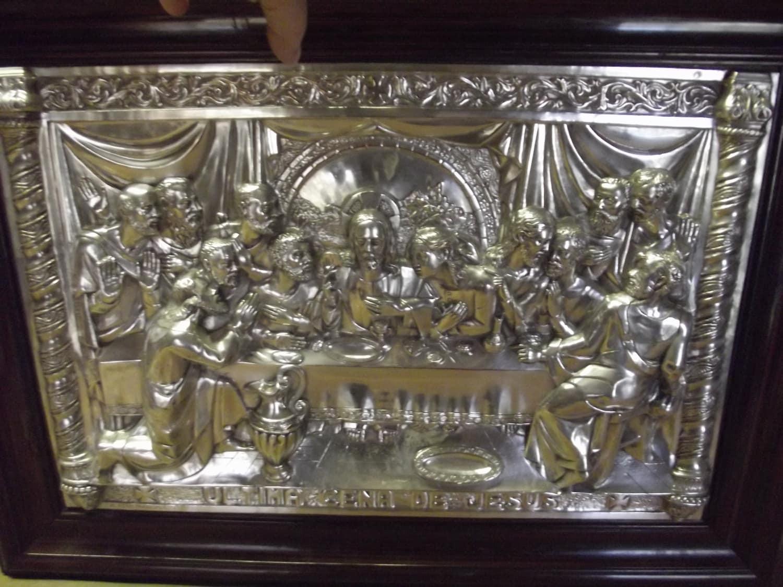 1908 ultima cena de jesus the last supper repouss. Black Bedroom Furniture Sets. Home Design Ideas